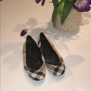 Burberry Print Ballerina Flats Size 8